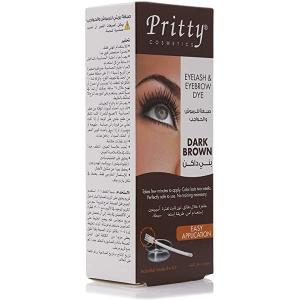 Pritty Eyelash & Eyebrow Dye Kit Brown 1pc