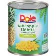 Dole Pineapple Tidbits Extra Light Syrup 432g