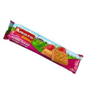 Amara Cream Biscuit Strawberry 85g