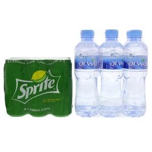 Sprite + Arwa Water 6x500ml