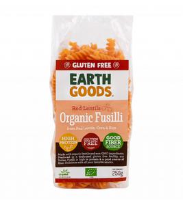 Earth Goods Organic Gluten Free Red Lentil Fusilli 250g