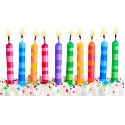 Mabelle Birthday Candle Medium 1pc