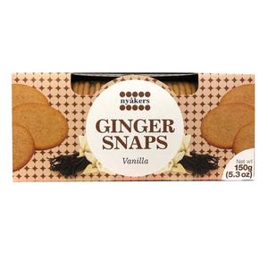 Nyakers Ginger Snaps Cookies Vanilla 150g