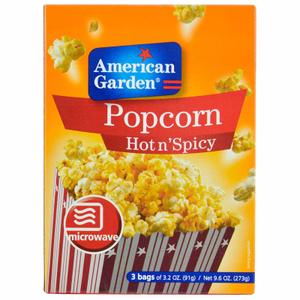 American Garden Microwaveable Popcorn Hot Spicy 9.6oz