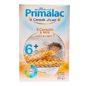 Primalac 5 Cereals & Milk 250g