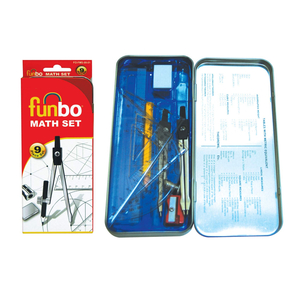 Funbo Maths Set In A Metal Box 1pc