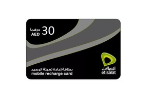 Etisalat Recharge AED 30 1pc
