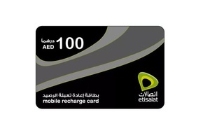 Etisalat Recharge AED 100 1pc