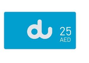 Du Recharge AED 25 1pc