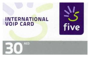 Five Voucher AED 30 1pc