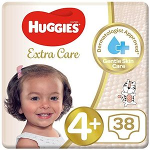 Huggies Extra Care Diapers Size 4+ Value Pack 10-16 kg 38pcs