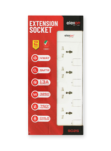 Elexon Extension Socket 4 Way 24pc
