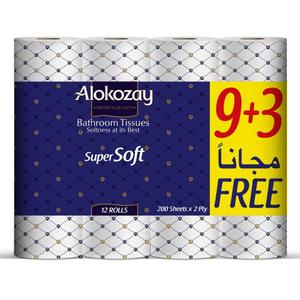 Alokozay Bath Tissue Rolls 2Ply 200s