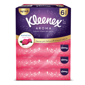 Kleenex Aroma Roses Facial Tissues 6x84