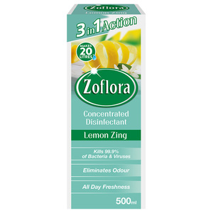 Zoflora Multipurpose Concentrated Disinfectant Lemon Zing 500ml
