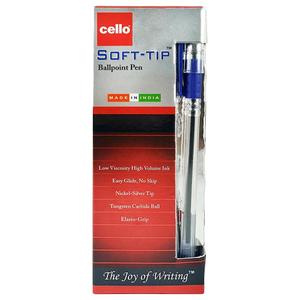 Cello Soft-Tip Blue Blister 5pc