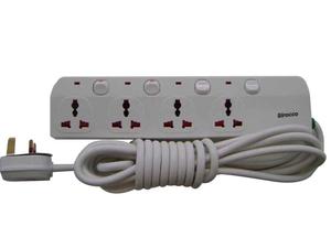 Sirocco Extn Socket 3Way With 2 USB 1pc
