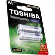 Toshiba Rechargeable Battery 1000 Mah AA Bp2 - Otr 1pc