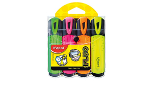 Maped Fluo Peps Classic Pack Assorted 1pc