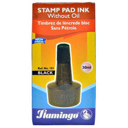 Flamingo Stamp Pad Ink- Black 1pc