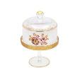 Al Hoora Gold Cake Dish 1pc