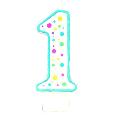 Amscan Number 1 Dots Candle 1pc