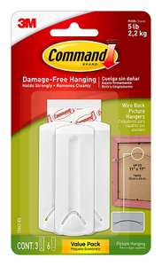 3M-Command Wire Bkd Pic Hanger 1pc