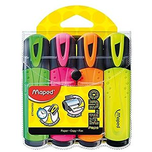 Maped Fluo Peps Pocket Yellow Assorted Blister 1pack