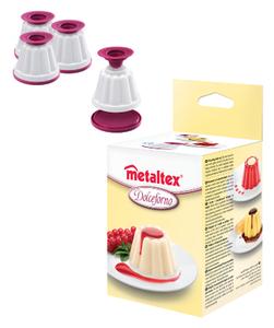 Metalatex Set 4 Creme Caramel Molds 1pc