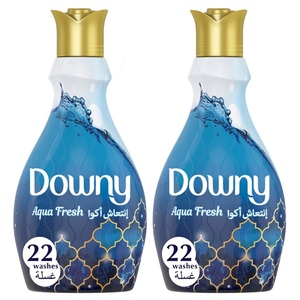 Downy Aqua Fresh Concentrate Fabric Softener Dual Pack 2x880ml