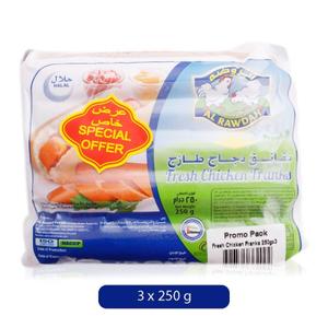 Al Rawdah Fresh Chicken Franks 3x250g