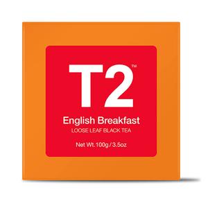 T2 English Breakfast Bio Tea Bag Box 25pack