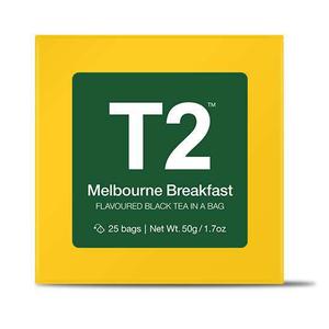 T2 Melbourne Breakfast Bio Tea Bag Box 25pack