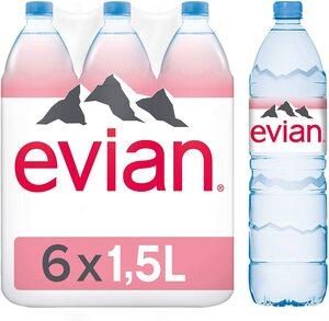 Evian Water Sunrise Pet 6x1.25L