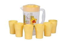 Vague Acrylic Water Jug With Cups 1set