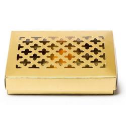 Vague Golden Metal Candy Box 1pc