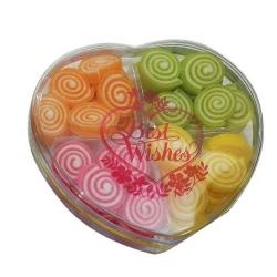 Vague Golden Round Candy Box 12.3X5Cm 1pc