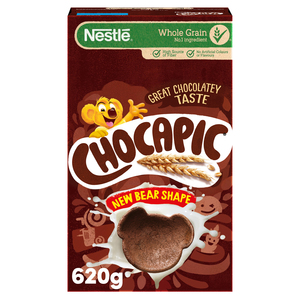 Nestle Chocapic Made With Whole Grain Bear-Shaped Cereal With Delicious Chocolate Flavour 620g