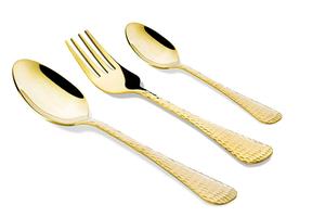 Vague Gold Serving Spoon 24 Cm 1pc