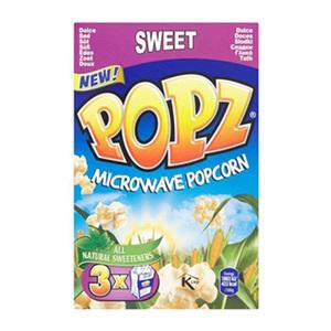 POPZ Microwave Popcorn Sweet 3x90g