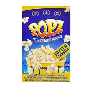 POPZ Microwave Popcorn Butter 3x90g