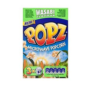 POPZ Microwave Popcorn Wasabi 3x90g