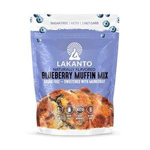 Lakanto Sugar Free Blueberry Muffin Mix Sweetened With Monkfruit 192g