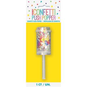 Unique Multi Confetti Push Popper 1pc