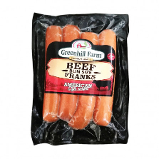 Green Hill Beef Franks 424g