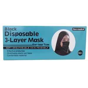 Eco Fresh Face Mask Black Color 50pcs