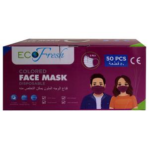 Eco Fresh Face Mask Purple Color 50pcs