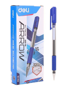 Deli Arrow Ball Pen Blue 0.7 Inch 5pcs
