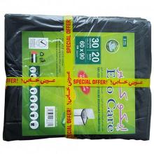 Eco-Care Black HD Garbage Bags Sheet 1pc
