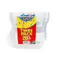 Hotpack with Rectangular Container + Lid Twin Pack 2pack